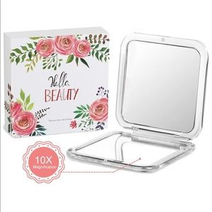 Compact Cosmetic Makeup Mirror 10x Magnification